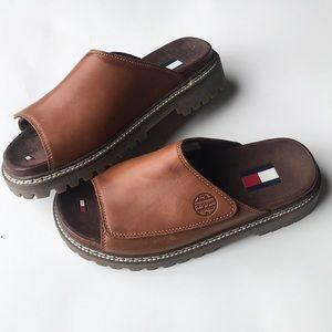 Vintage 90s Tommy Hilfiger Velcro brown sandals 7